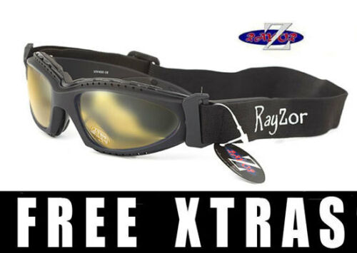 RAYZOR 2n1 UV400 CYCLING MTB GOGGLES SUNGLASSES Light Enhancing Lens