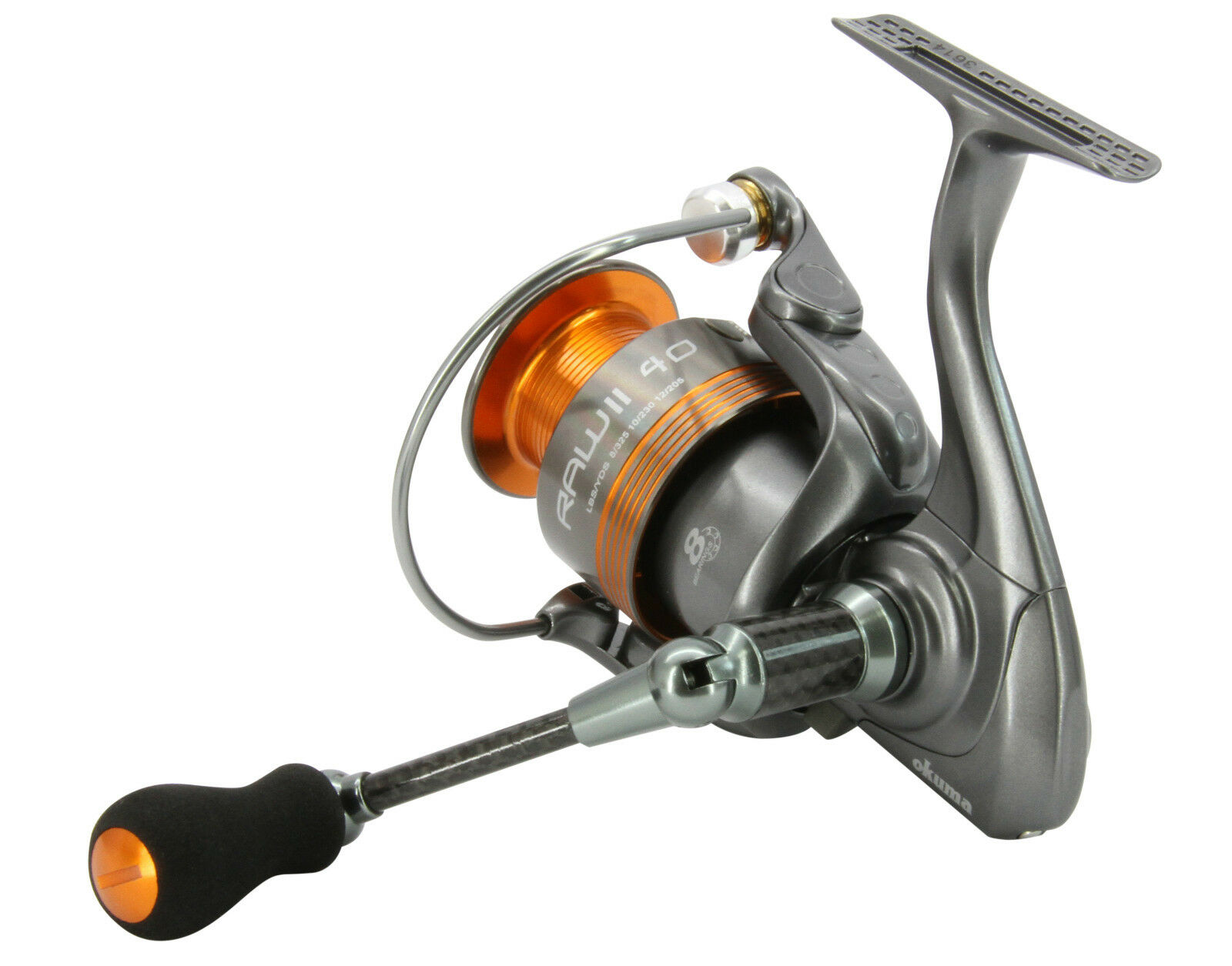 OKUMA RAW II 30 FISHING REEL REEL MATCH SPIN REEL FISHING SEA PIER BEACH DROP SHOT BASS PIKE 8d7cb8