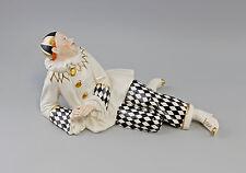Porzellan Figur großer Pierrot schwarz/weiß Ens 38x18cm 9941836