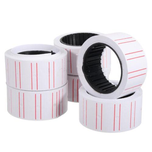 10 Rolls Price Label Paper Tag Sticker MX-5500 Labeller Gun Line Fast **