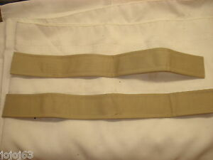 Soft Top Cover Rear Window Strap, Tan Pair. New.  54-55 Corvette