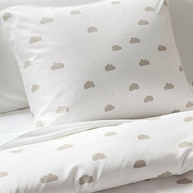 Pillowfort Duvet Cover Clouds grau Full Queen