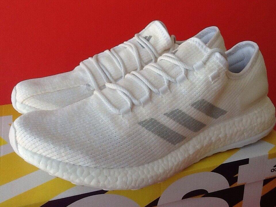 Chaussures de course Adidas Pureboost Clima White BA9058 pour homme, taille 7.5