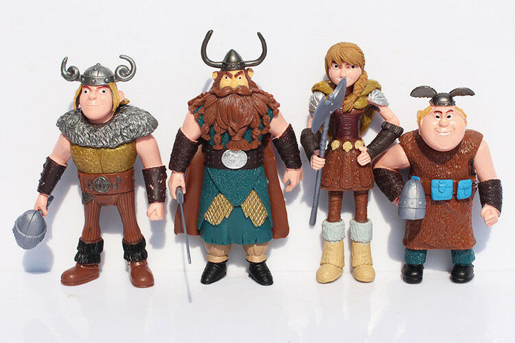 """How To Train Your Dragon Night Fury Play Set 8pc Action Figures Large 4-1//2/"""""""