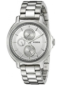 Fossil-Women-039-s-Chelsey-Silver-Tone-Stainless-Steel-Watch-ES3355