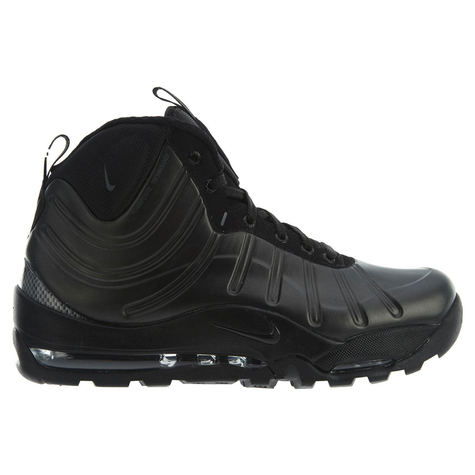 Nike Air Bakin' Posite Mens 618056-001 Black Foamposite Sneakerboots Size 8
