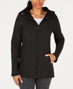 Ideology-Womens-Long-Hooded-Rain-Jacket-Black