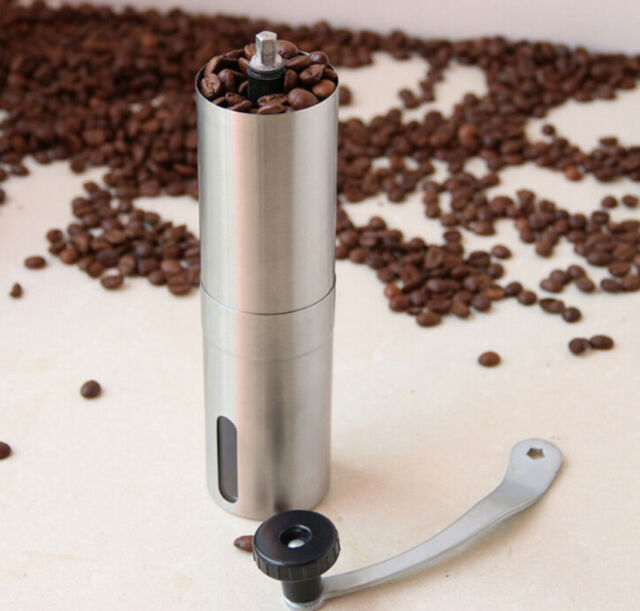 Grinder Ceramic Burr Coffee Hand Coffee Mill Crank Portable Stainless Manual