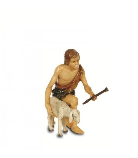 Puntuale Inginocchiato Con Pecora Landi Moranduzzo Cm13-personaggi-presepe-made Italy