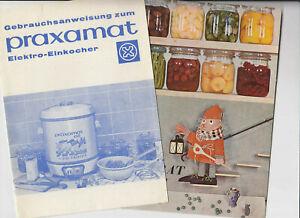 Konvolut-Praxamat-Elektro-Einkocher-Vorrat-ohne-Muhe-usw-Herzog-Xanten-1960er