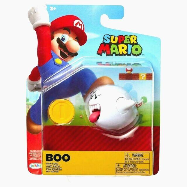 "🔥Super Mario BOO / GHOST 4"" Jakks Nintendo Figure w/ COIN"