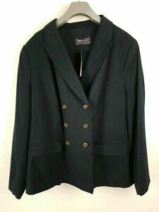 BNWT-M-amp-S-Collection-Navy-Blue-Smart-Formal-Blazer-Jacket-UK-Size-22
