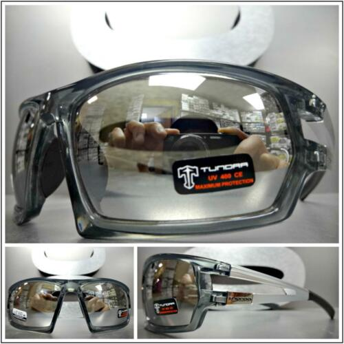 Men/'s WRAP AROUND SPORT CYCLING Casual Dressy SUN GLASSES Gray Frame Mirror Lens