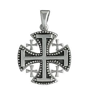 84g solid 925 sterling silver jerusalem cross beldiamo pendant ebay image is loading 8 4g solid 925 sterling silver jerusalem cross aloadofball Images