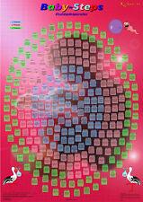 Handgemachter Baby Schwangerschaftskalender Rubbelkalender, 269 Infos für Eltern