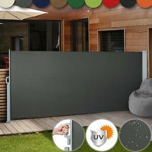 Seitenmarkise-Ausziehbar-Alu-Balkon-Garten-UV-Windschutz-Sichtschutz-Seitenrollo