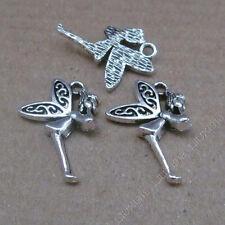 15pc Tibetan Silver Angel Elves Pendant Charms Bead Craft Jewellery Making S655T