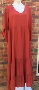Cotton-Village-Tiered-Summer-Maxi-Dress-Terracotta-sizes-S-M-10-16-M-L-16-20-NWT