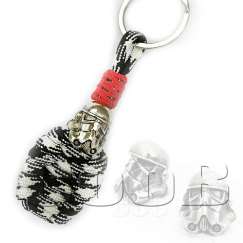 Survival Paracord Keychain Lanyard Strap with Hand-Casted Bead STAR WARS by CooB