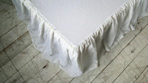 Natural Linen Dust Bed Skirt Bed skirt custom size. king Queen 100/% Linen