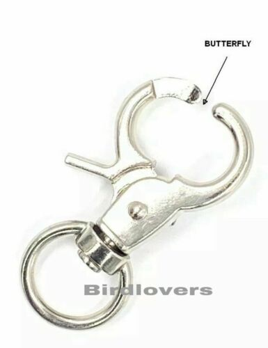 BUTTERFLY 60MM LOBSTER CLASPS TRIGGER SWIVEL H//DUTY HOOKS STRAPPING DOG LEADS