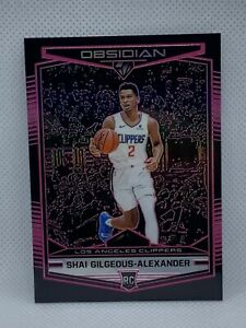 2018-Panini-Obsidian-Shai-Gilgeous-Alexander-75-Pink-Prizm-Preview-HOT-Rookie
