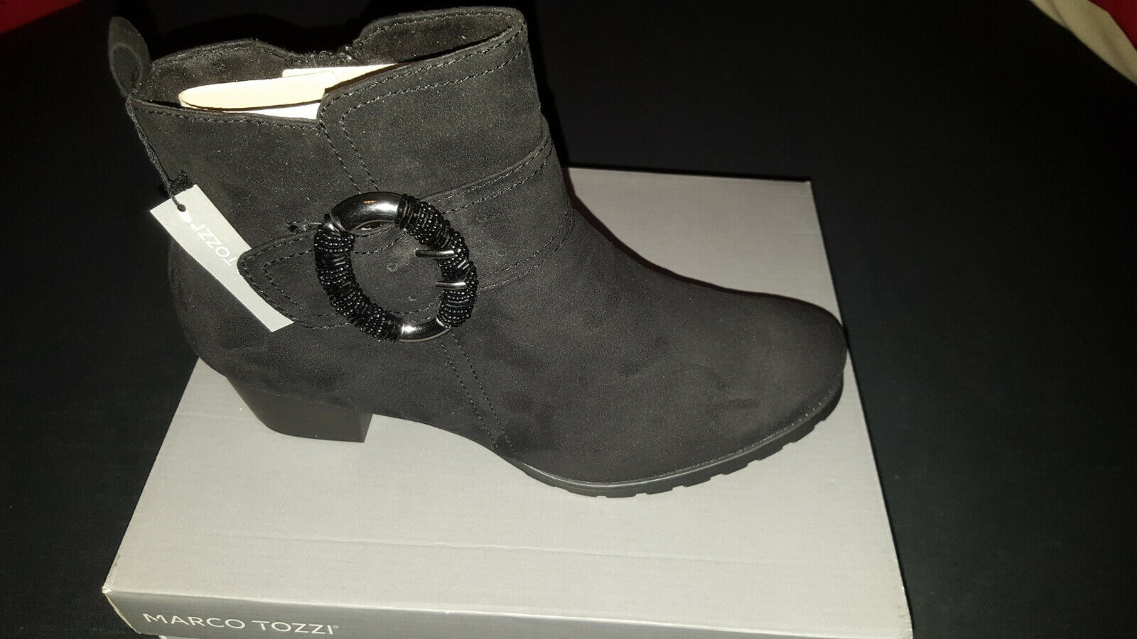 Marco Tozzi Damen Stiefelette Bikerstiefelette BikerStiefel Stiefel Schuhe schwarz
