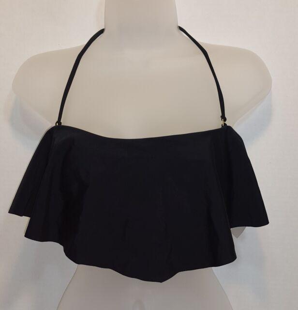 Raisins Swim Bikini Top Sz XL Black Shayla Bandeau (ti4)