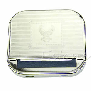 New Metal Automatic Smoking Cigarette Rolling Box Machine Case Tobacco Roller 664255260079