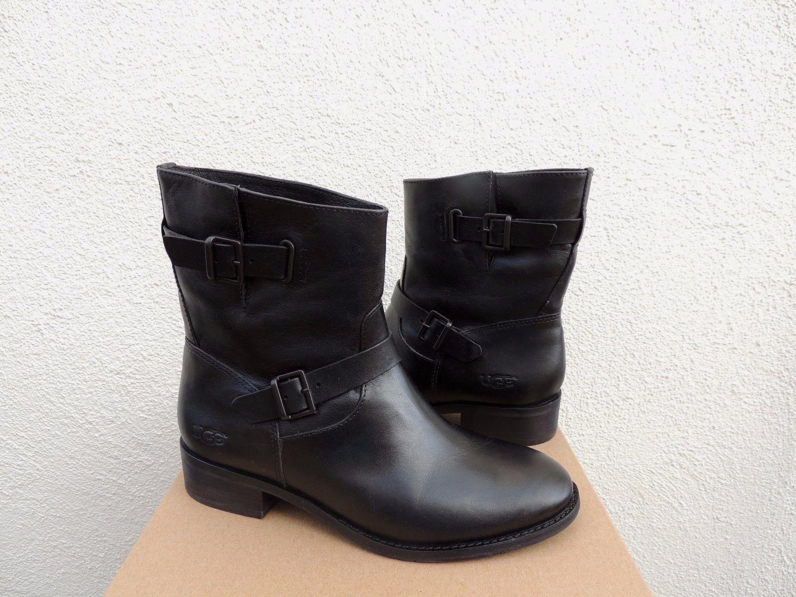 ea8841febc6 UGG Australia Fletcher Black Water Resistant Leather Women's Boot Size Size  9