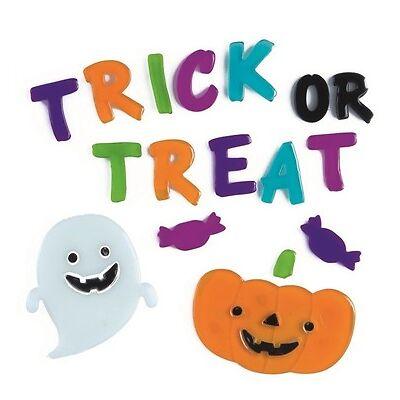 Halloween Decoration Reuseable Window Gel Stickers Trick or Treat Ghost Pumpkin