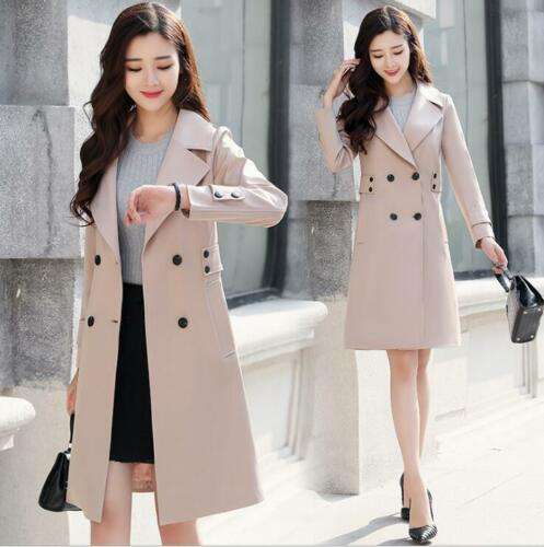coreano c Autunno Trench Casual Coat Fashion Slim petto New Womens 2019 doppio 4qPwBd4gx