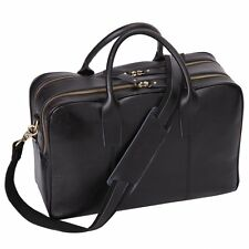 Leathario Mens Shoulder Leather Laptop Briefcase Business Office Bag