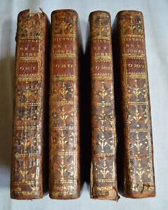1751 Histoire de Tom Jones ou L'enfant trouvé De La Place 4 Vol 14 estampes Cuir