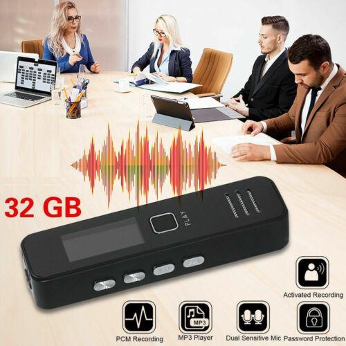 32 GB Tragbarer Digitale Diktiergerät Voice Recorder Meetings Digital Recorder