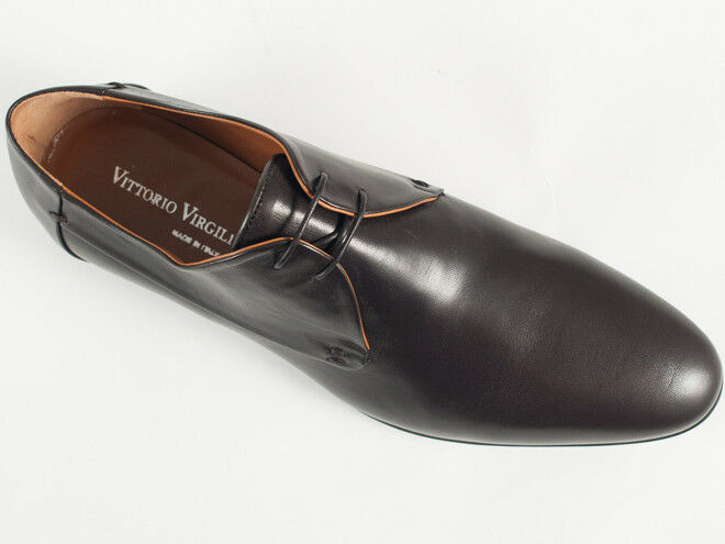 New  Vittorio Virgili Dark Brown Brown Brown leather  Shoes Size 42 US 9 d54311