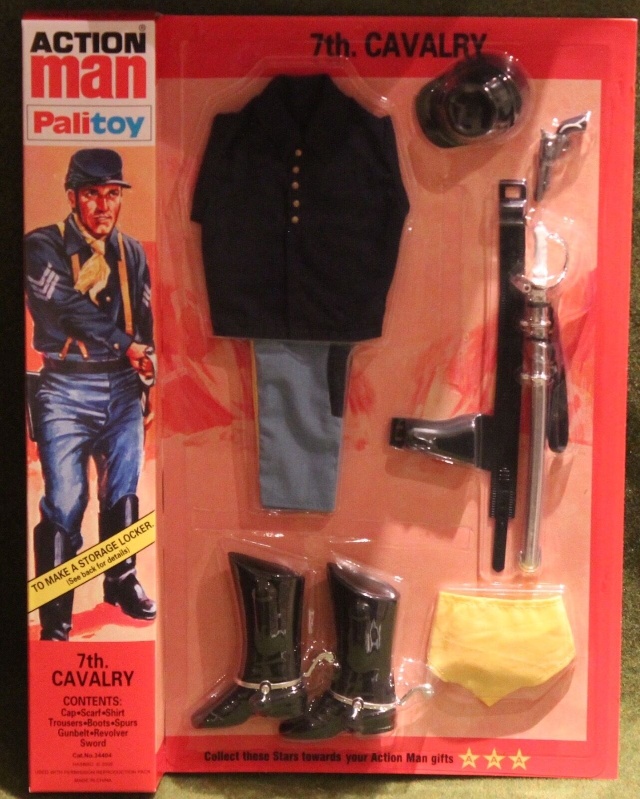 Vintage action man 40th anniversary 7th us cavalry uniform carded boxed