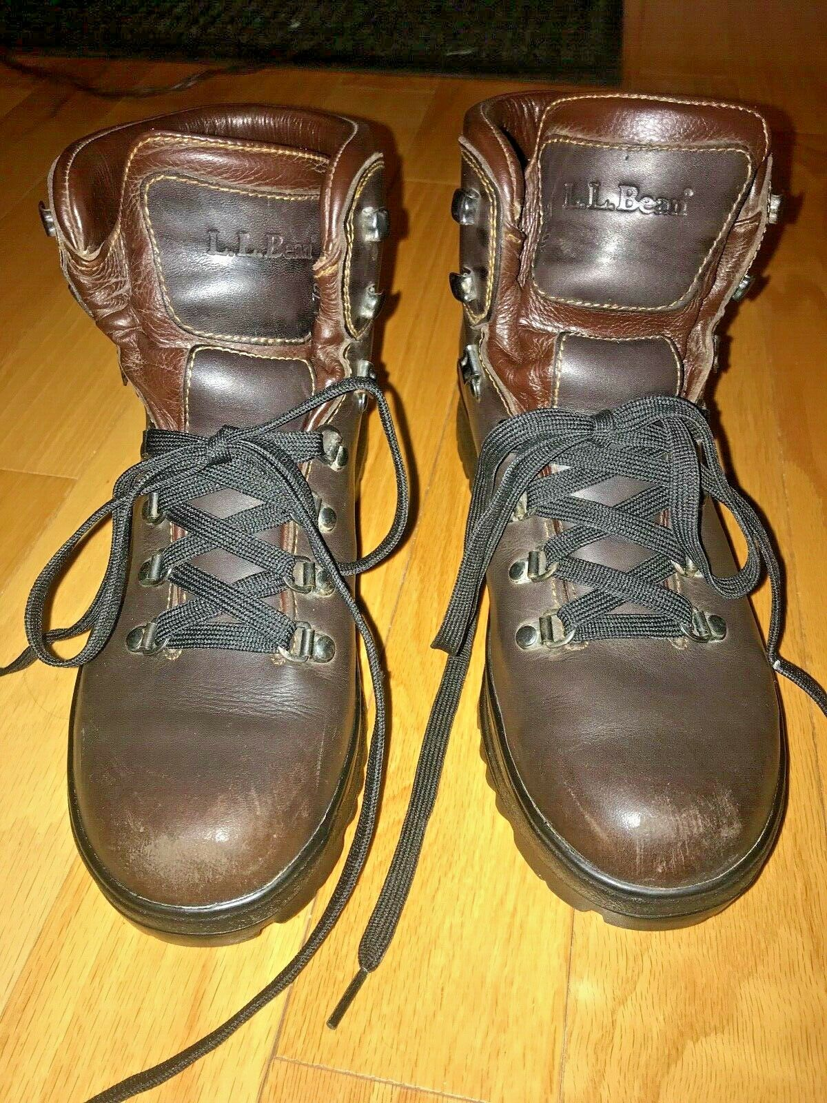 Women's LL Bean Leather Gore-tex Cresta Hiking Boots  10 Narrow