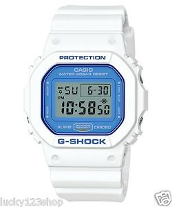DW-5600WB-7C-White-Blue-Casio-G-shock-Unisex-Watches-200m-Resin-Band-Classic-New