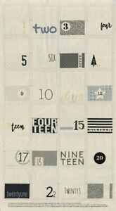 Zen-Chic-White-Christmas-Advent-Calendar-Panel-amp-Contrasting-Fabric-Moda-Fabric