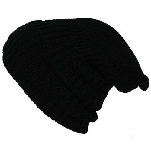 New Womens Mens Knit Slouchy Beanie Thick Winter Hat Unisex Slouch Neon Colors