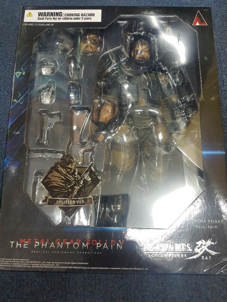 Square Enix Play Arts Kai Metal Gear Solid 5 Venom Snake splitter version misb