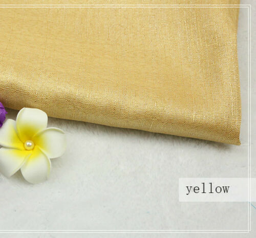 Glitter Linen Blend Fabric Shiny Table Cloth Hangings Sofa Pillow Decor Craft 1M