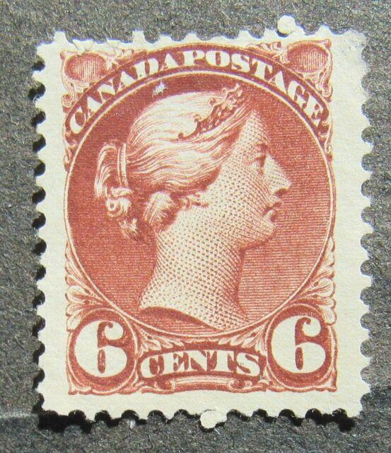 Canada 1872 6C Queen Victoria dunkel red-brown, Mi #30bA MNG