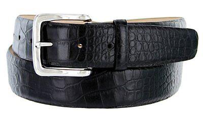 "Hagora Men 1-1//8/"" Wide Italian Calfskin Embossed Or Smooth Engraved Buckle Belt"