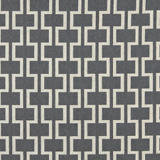 a0006b blue off white modern geometric designer upholstery fabric by the yard