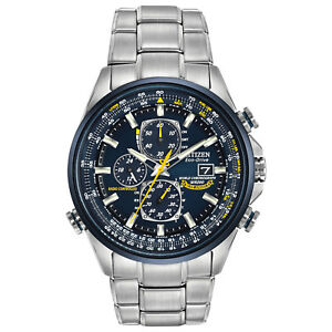 Citizen-Eco-Drive-Men-039-s-Blue-Angels-A-T-Chronograph-43mm-Watch-AT8020-54L