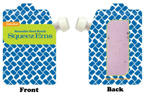 Booginhead Zip Top Squeez/'Ems Kids Reusable Refillable Homemade Food Pouch 6oz