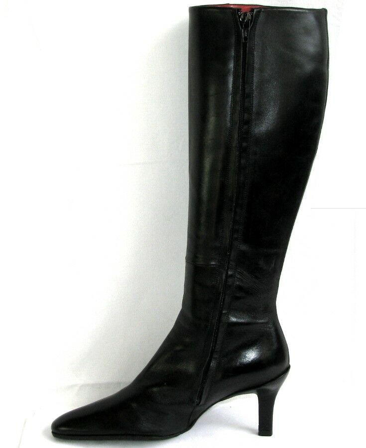 FREE LANCE Boots Boots Boots heels 8 cm all leather black 36   VERY GOOD CONDITION d0b4ec