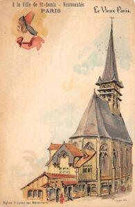 Old-Paris-with-La-Ville-de-St-Denis-Church-St-Julien-of-Minstrels